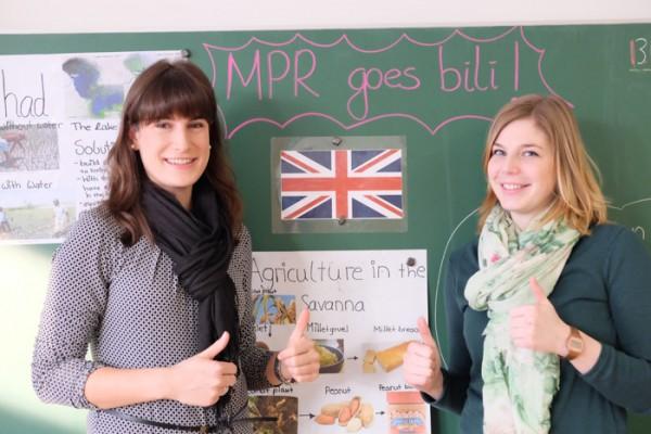 Luisa Hauck und Carina Rombach freuen sich auf den Bili-Zug