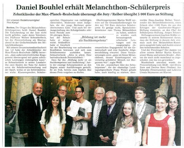 Melanchthonpreis 2015