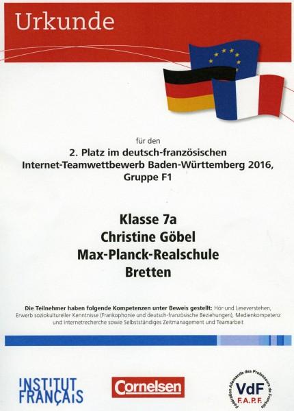 Urkunde Cornelsen 2016